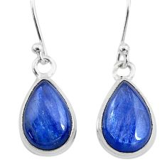 925 sterling silver 7.66cts natural blue kyanite dangle earrings jewelry t21410