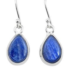 925 sterling silver 7.81cts natural blue kyanite dangle earrings jewelry t21414