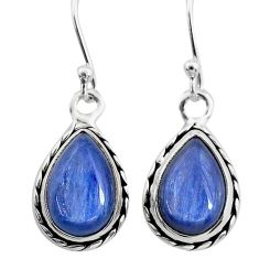 925 sterling silver 8.09cts natural blue kyanite dangle earrings jewelry t21418