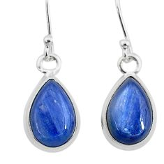 925 sterling silver 7.40cts natural blue kyanite dangle earrings jewelry t21420