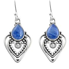 925 sterling silver 4.40cts natural blue kyanite dangle earrings jewelry t2548