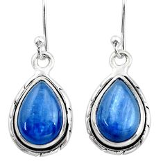 925 sterling silver 9.45cts natural blue kyanite earrings jewelry t42994