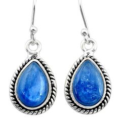 925 sterling silver 9.49cts natural blue kyanite earrings jewelry t42996