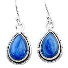 925 sterling silver 9.20cts natural blue kyanite earrings jewelry t42998