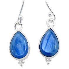 925 sterling silver 8.32cts natural blue kyanite earrings jewelry t43000