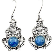 Clearance Sale- 925 sterling silver 7.11cts natural blue kyanite owl earrings jewelry d40939