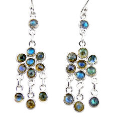 925 sterling silver 13.15cts natural blue labradorite chandelier earrings r35611