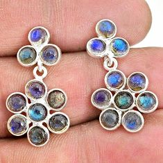 925 sterling silver 7.66cts natural blue labradorite chandelier earrings t4797