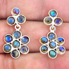 925 sterling silver 7.59cts natural blue labradorite chandelier earrings t4800