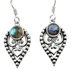 925 sterling silver 2.74cts natural blue labradorite dangle earrings d46808