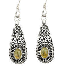 925 sterling silver 3.16cts natural blue labradorite dangle earrings d46977