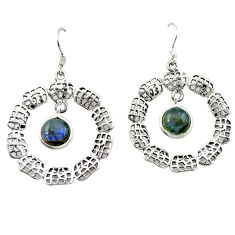 925 sterling silver natural blue labradorite dangle earrings jewelry c26107