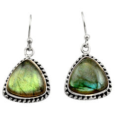 925 sterling silver 10.46cts natural blue labradorite dangle earrings r21589