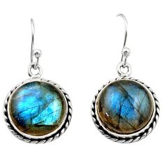 925 sterling silver 11.65cts natural blue labradorite dangle earrings r21593
