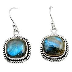 925 sterling silver 8.33cts natural blue labradorite dangle earrings r21611