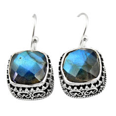 925 sterling silver 10.16cts natural blue labradorite dangle earrings r21891