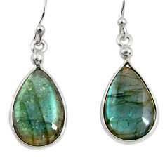 925 sterling silver 11.93cts natural blue labradorite dangle earrings r29190
