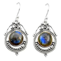 925 sterling silver 9.23cts natural blue labradorite dangle earrings r30858