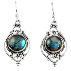 925 sterling silver 8.26cts natural blue labradorite dangle earrings r30970