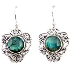 925 sterling silver 7.97cts natural blue labradorite dangle earrings r31057