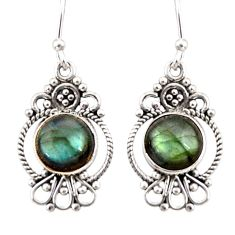 925 sterling silver 6.61cts natural blue labradorite dangle earrings r31112
