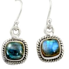 925 sterling silver 4.56cts natural blue labradorite dangle earrings r41110
