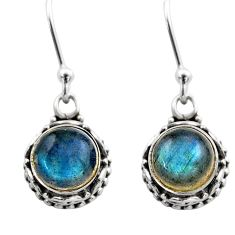 925 sterling silver 5.12cts natural blue labradorite dangle earrings r53060