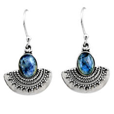 925 sterling silver 4.50cts natural blue labradorite dangle earrings r54198