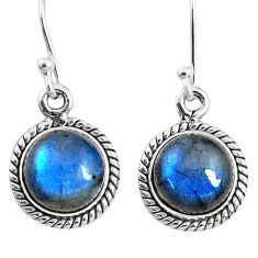 925 sterling silver 7.87cts natural blue labradorite dangle earrings r66424
