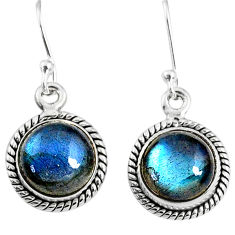 925 sterling silver 8.26cts natural blue labradorite dangle earrings r66432