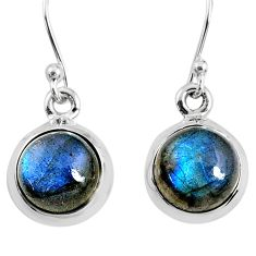 925 sterling silver 7.42cts natural blue labradorite dangle earrings r66436