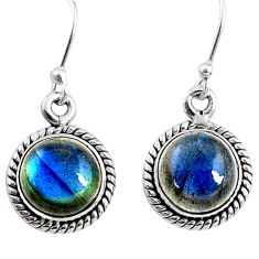 925 sterling silver 7.97cts natural blue labradorite dangle earrings r66439