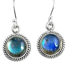 925 sterling silver 7.87cts natural blue labradorite dangle earrings r66451