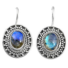 925 sterling silver 4.51cts natural blue labradorite dangle earrings r67216