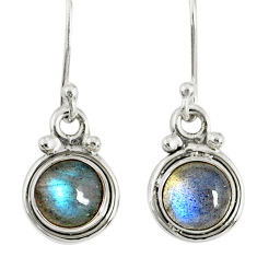 925 sterling silver 3.19cts natural blue labradorite dangle earrings r77304