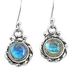 925 sterling silver 3.66cts natural blue labradorite dangle earrings t4369