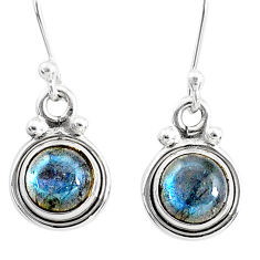 925 sterling silver 3.64cts natural blue labradorite dangle earrings t4373
