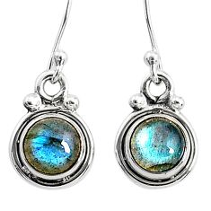 925 sterling silver 3.60cts natural blue labradorite dangle earrings t4380