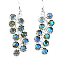 925 sterling silver 10.15cts natural blue labradorite dangle earrings t4640