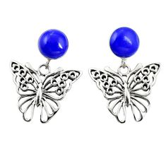 925 sterling silver natural blue lapis lazuli butterfly earrings jewelry c11693