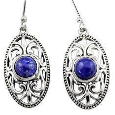 925 sterling silver 4.82cts natural blue lapis lazuli dangle earrings d46873