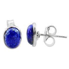 925 sterling silver 3.42cts natural blue lapis lazuli stud earrings t19271
