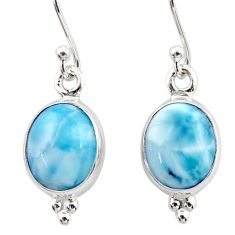 925 sterling silver 8.07cts natural blue larimar dangle earrings jewelry r52124