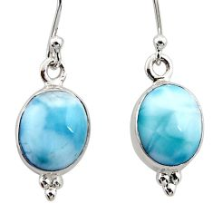 925 sterling silver 7.96cts natural blue larimar dangle earrings jewelry r52127