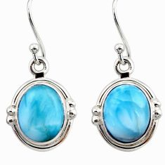 925 sterling silver 8.75cts natural blue larimar dangle earrings jewelry r52132
