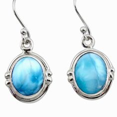 925 sterling silver 8.73cts natural blue larimar dangle earrings jewelry r52136