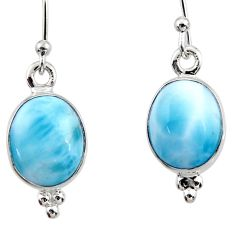 925 sterling silver 7.66cts natural blue larimar dangle earrings jewelry r52168