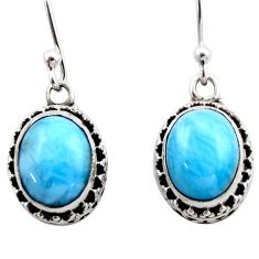 925 sterling silver 7.88cts natural blue larimar dangle earrings jewelry r53071