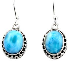 925 sterling silver 8.22cts natural blue larimar dangle earrings jewelry r53080