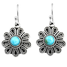 925 sterling silver 1.47cts natural blue larimar dangle earrings jewelry r54016